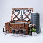 cesta para picnic de mimbre aislamiento termico